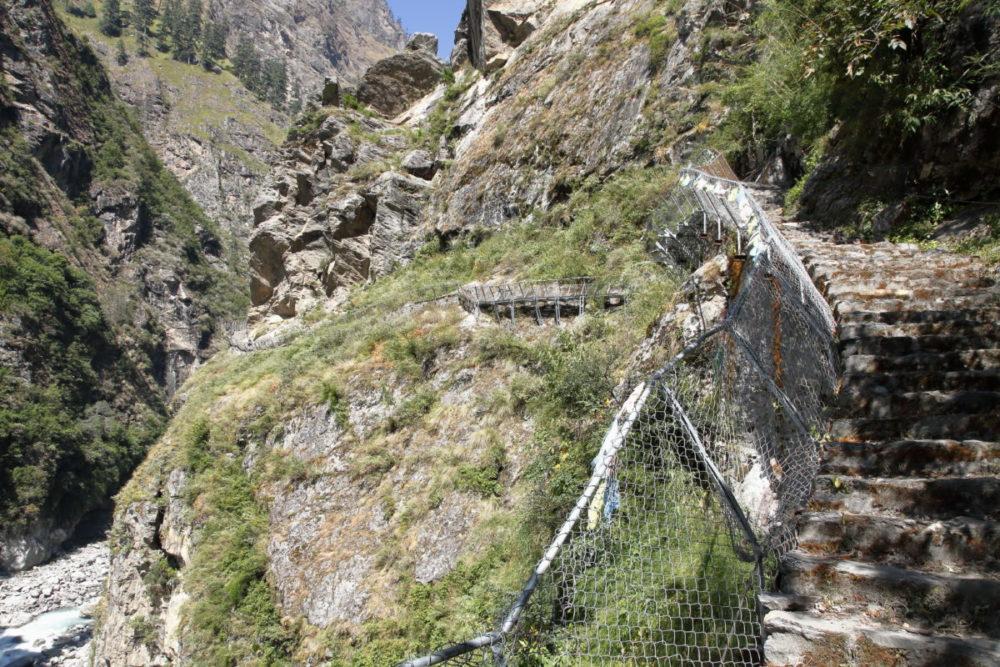 Nepal, Manaslu, Tsum Valley, Trekking, Wandern, Himalaya, Brücke, Hängebrücke