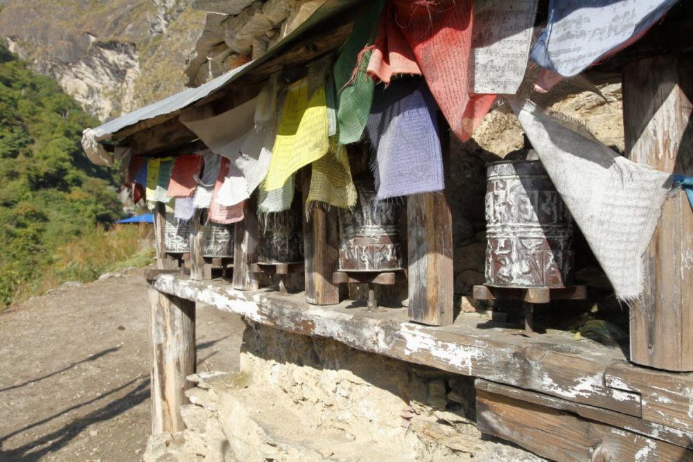 Nepal, Manaslu, Tsum Valley, Trekking, Wandern, Himalaya, Gebetsmühlen