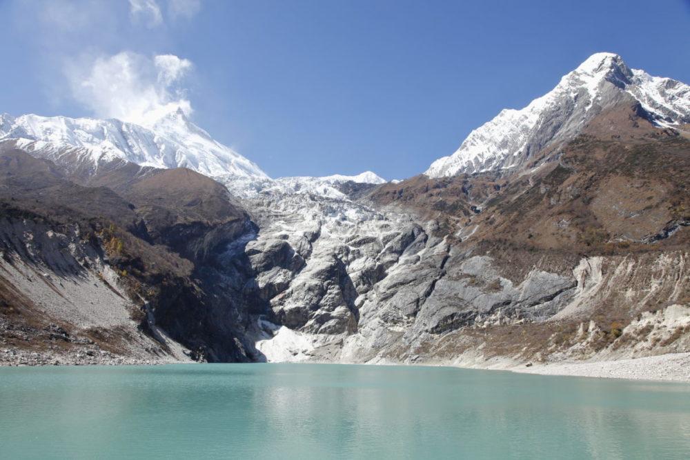 Nepal, Manaslu, Tsum Valley, Trekking, Wandern, Himalaya, Gebiergssee, Gletscher