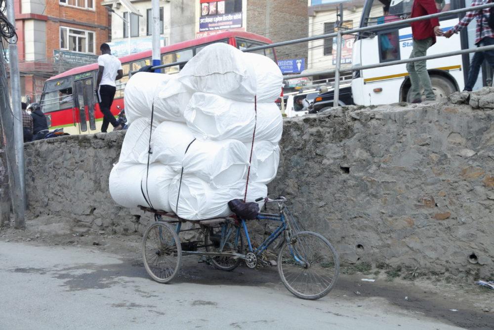 Nepal Kathmandu, Kathmandu Thamel, rikscha, Nepal rikscha