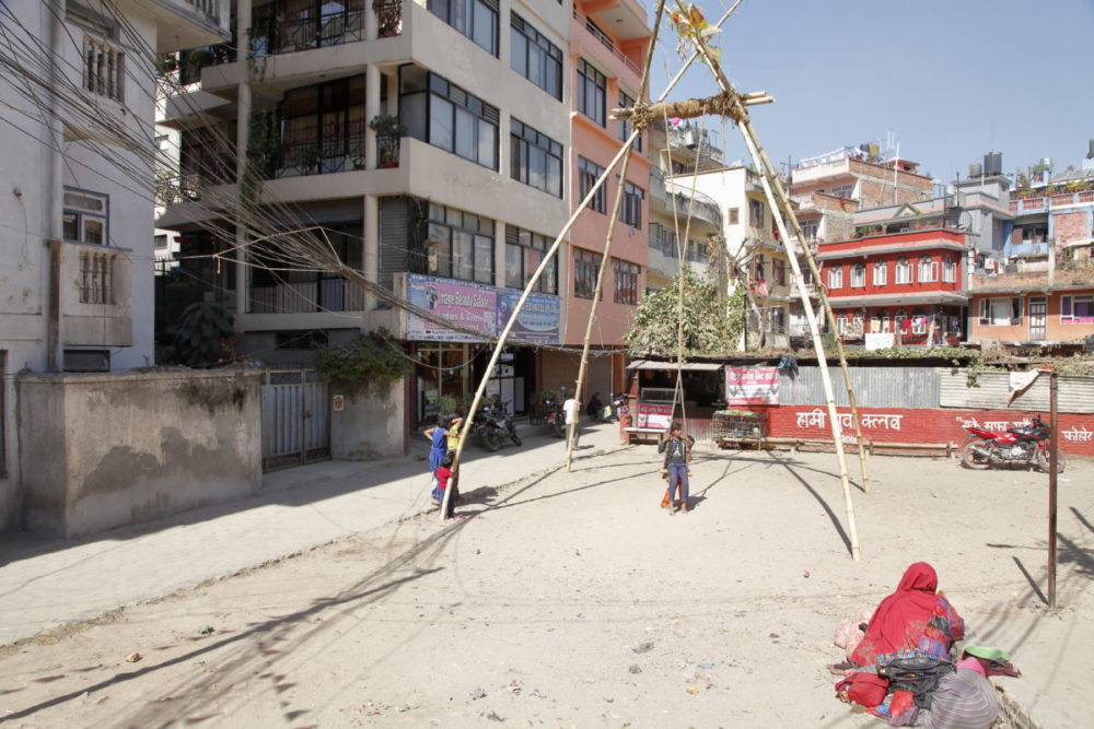 Nepal Kathmandu, Kathmandu Thamel, schaukel, schaukel Nepal