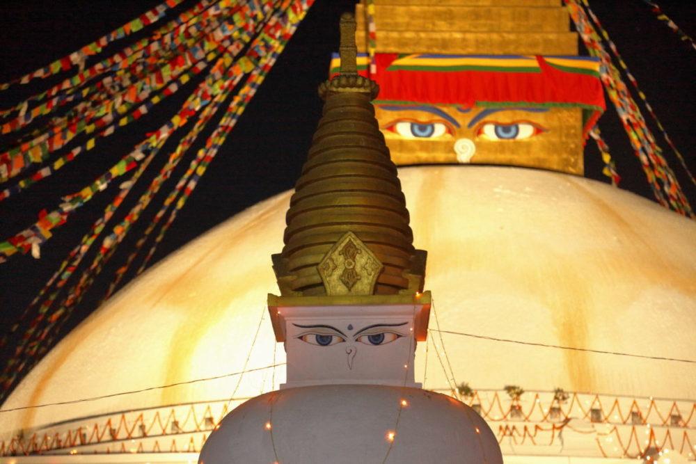 Nepal, Kathmandu, Bodnath, Stupa