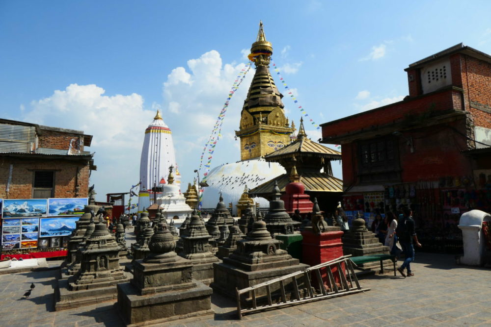 Nepal Swayambhu Tempelanlage, Monkeytempel