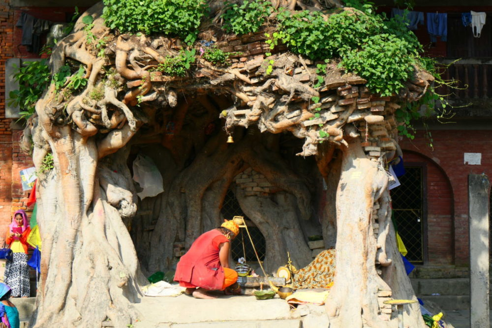 Nepal hinduistische Gedenkzeremonie