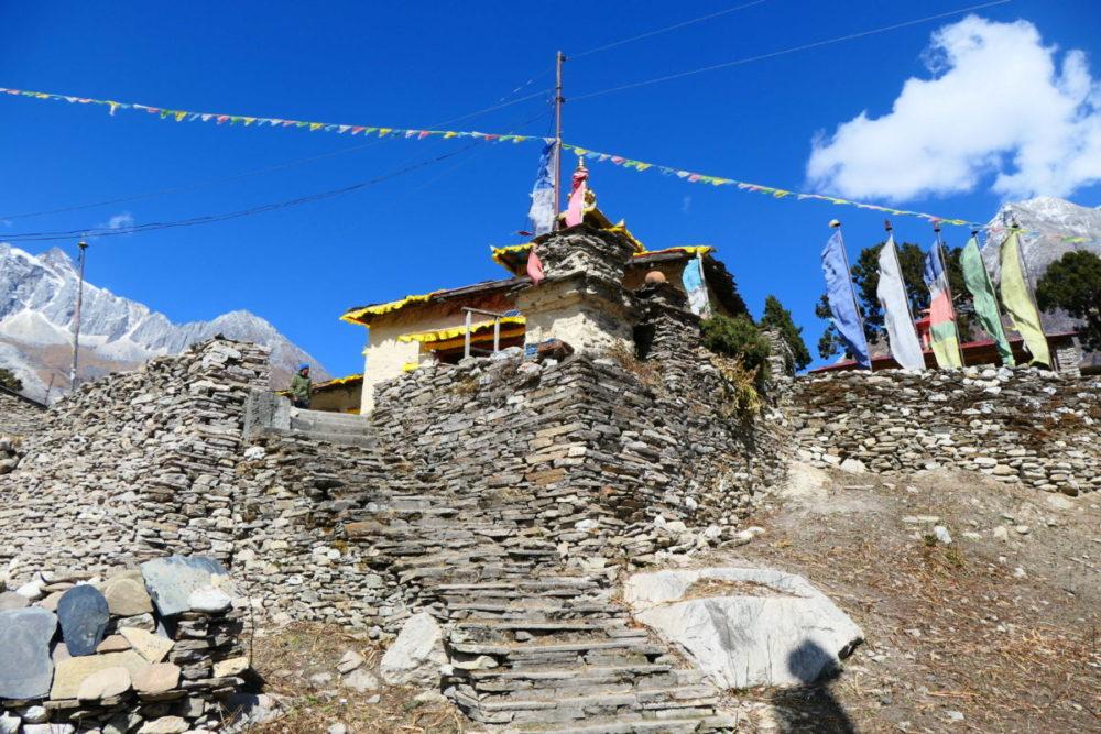 Nepal, Manaslu, Tsum Valley, Trekking, Wandern, Himalaya, monasterie